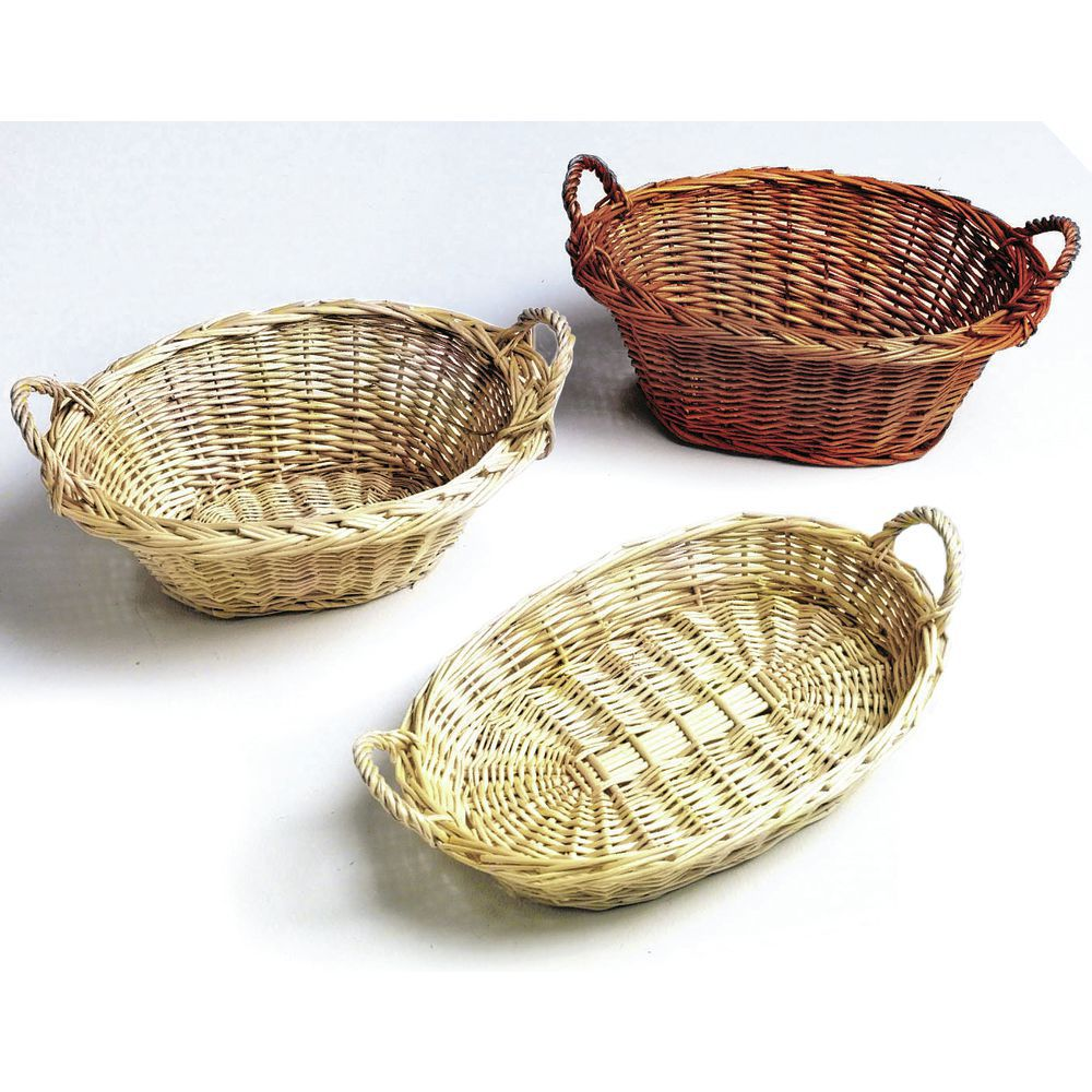 13 1/2 x 10 x 5 Dark Oval Willow Baskets