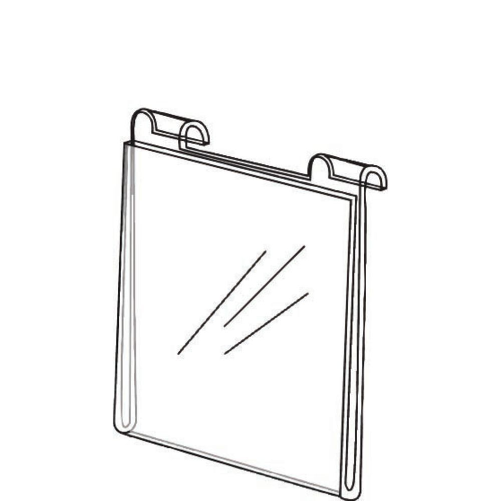 """Acrylic Gridwall Sign Holder