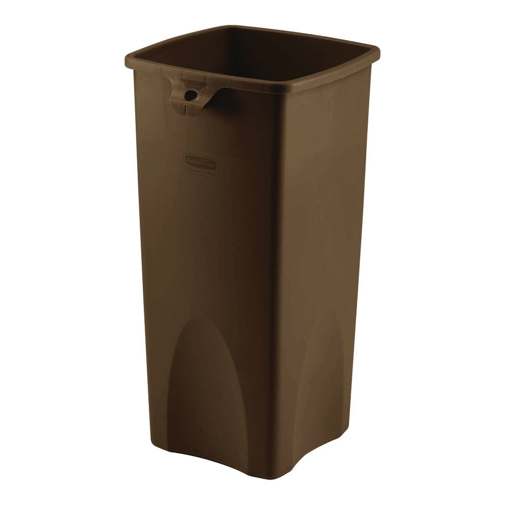 Rubbermaid 23 Gal Untouchable Brown Plastic Kitchen Garbage Can