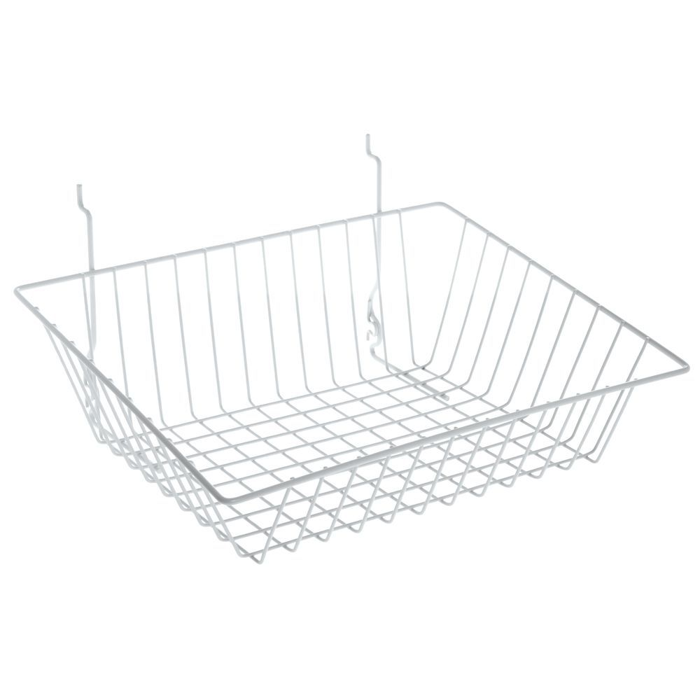 Wire Storage Basket with a Tapered Front