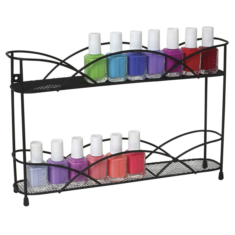 "DISPLAY, NAIL POLISH, 2TIER, 8.5""H, BLK"