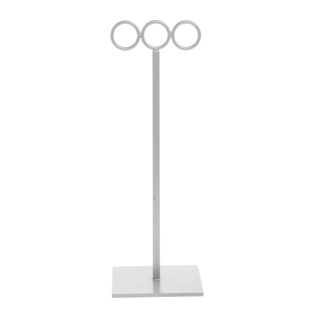 "Taupe Metallic Scarf Stand, 16"" (H)"