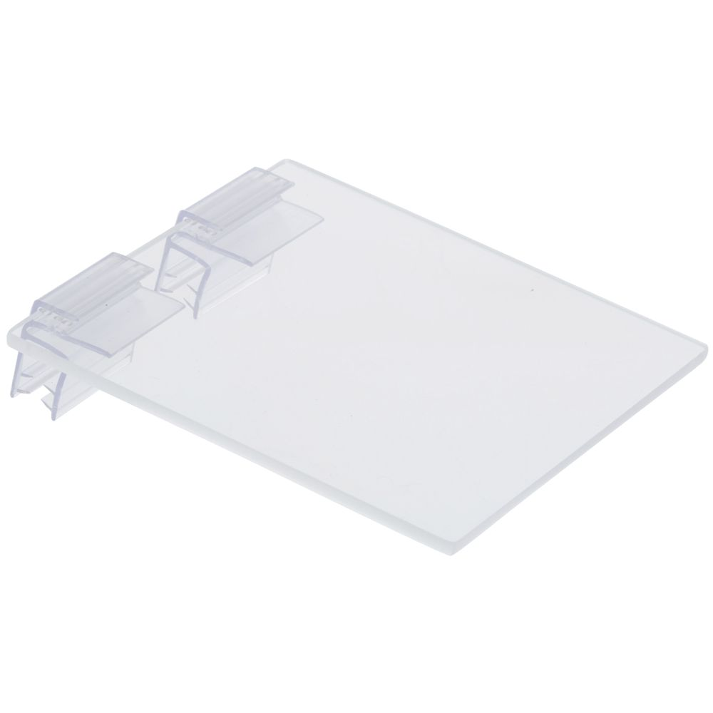 """Cal Mil Clear Lid with Plastic Hinge 4""""L x 4""""W"""