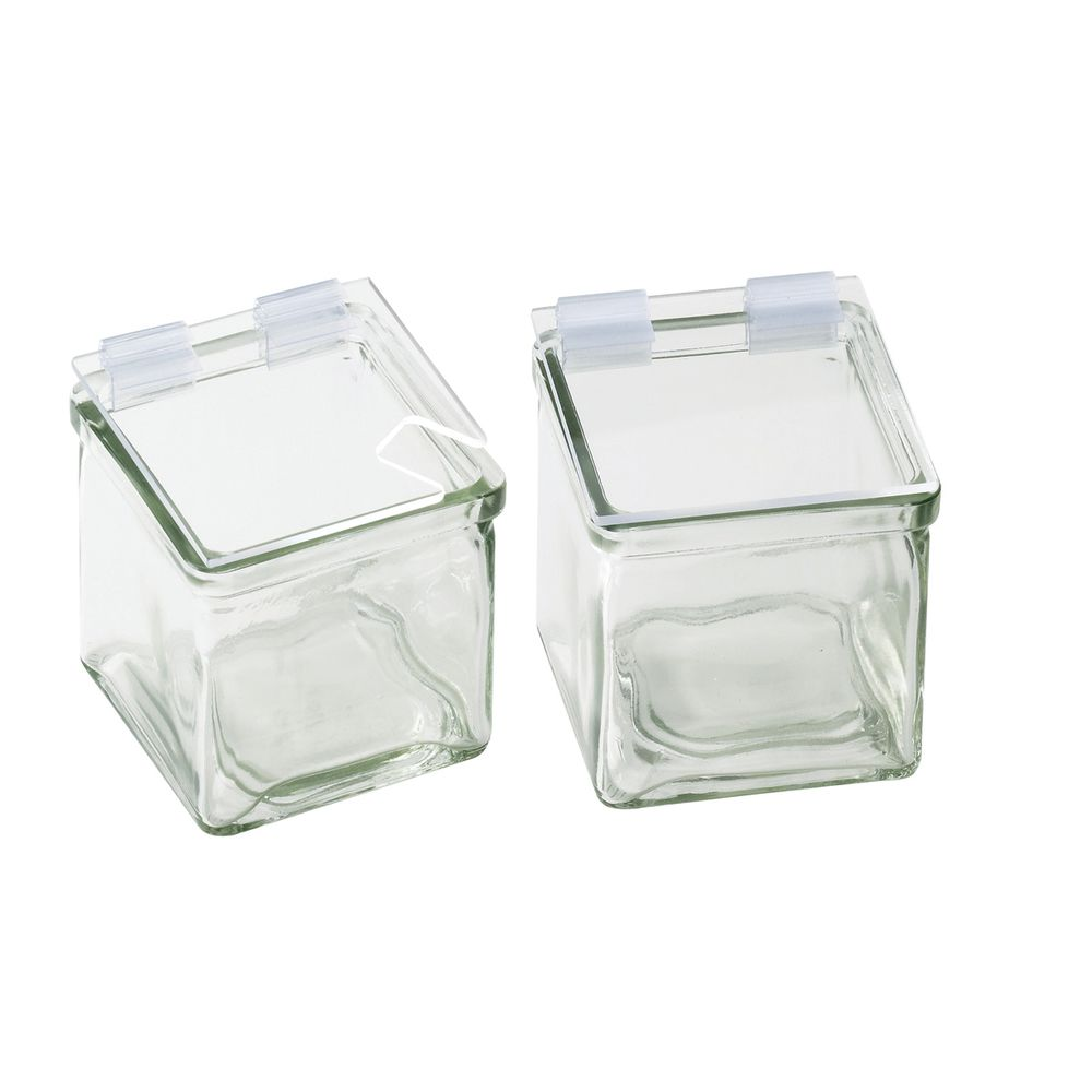 "Optional Condiment Holder Lid 4""W x 4""L Clear Glass"