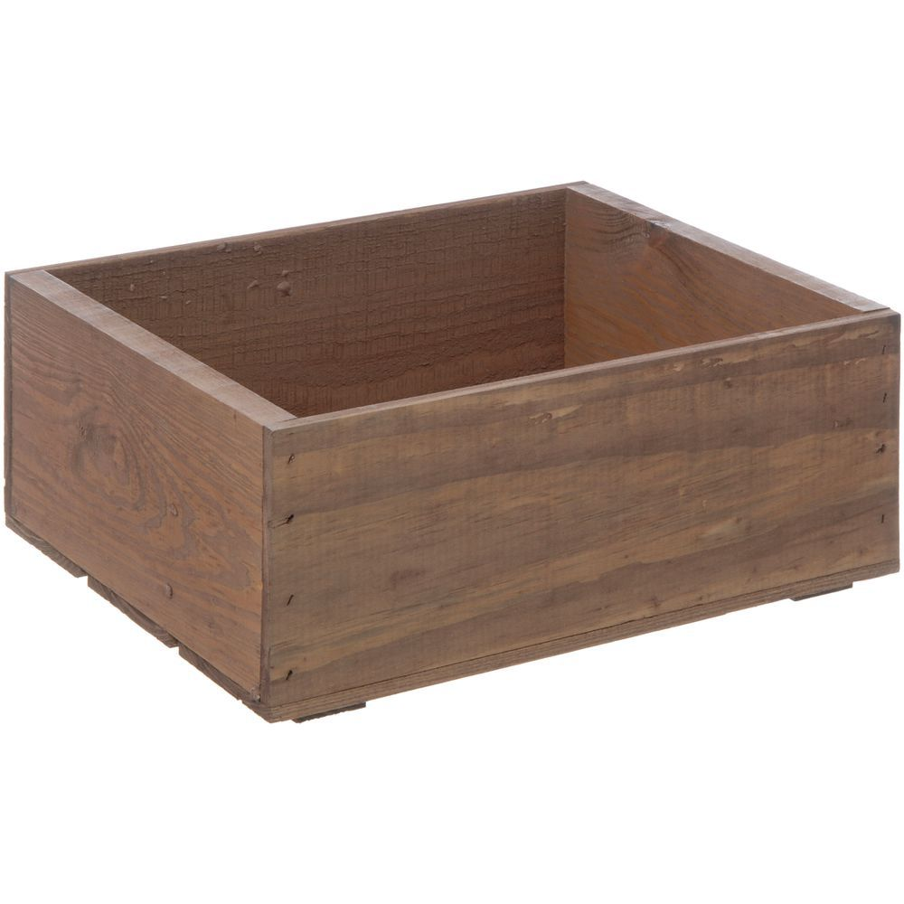 """Wooden Crate Plain Early American Small 14 3/4""""L x 11 1/4""""W x 5 7/8""""H"""