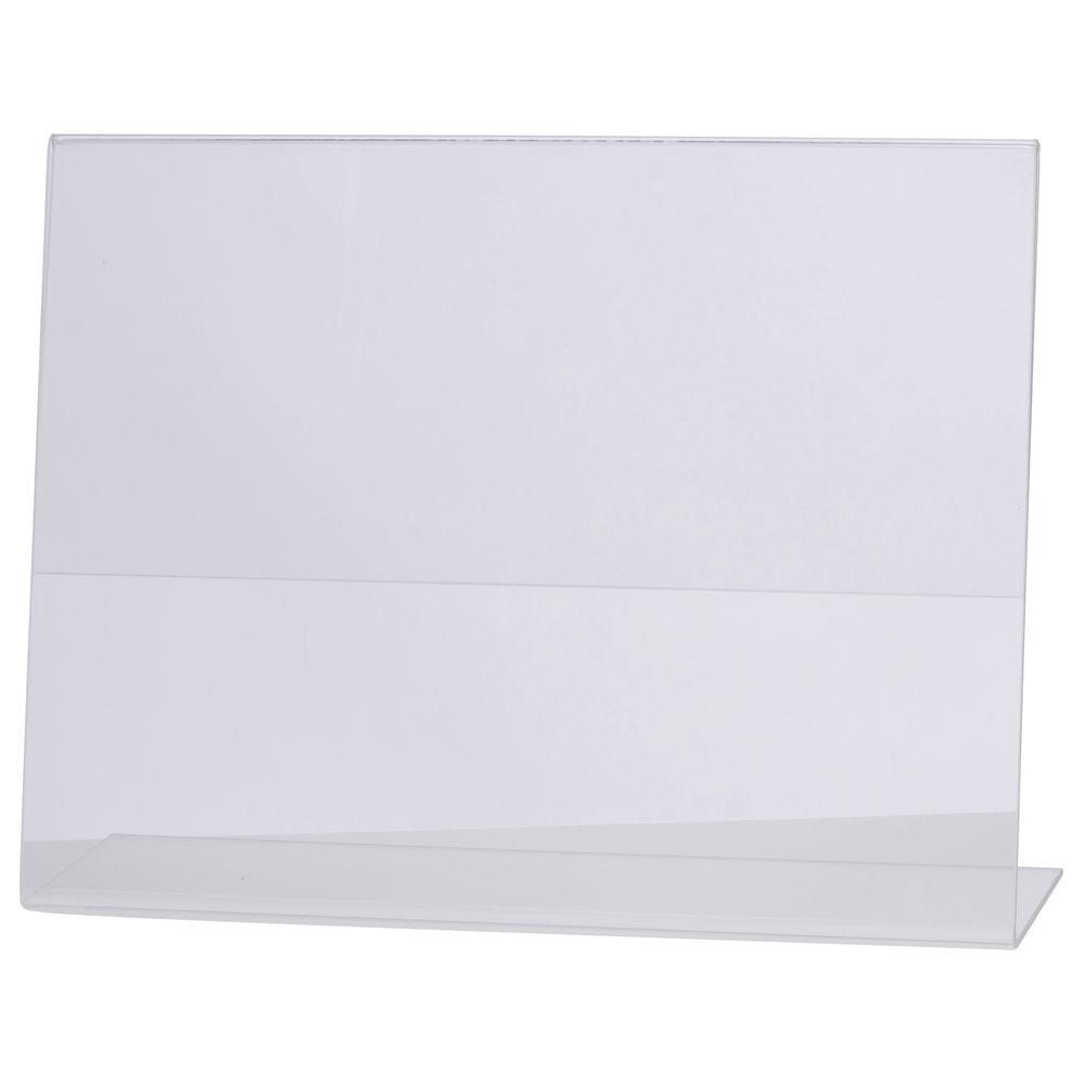 "HUBERT® Clear Sign Holder Acrylic 11""L x 8 1/2""H Horizontal"