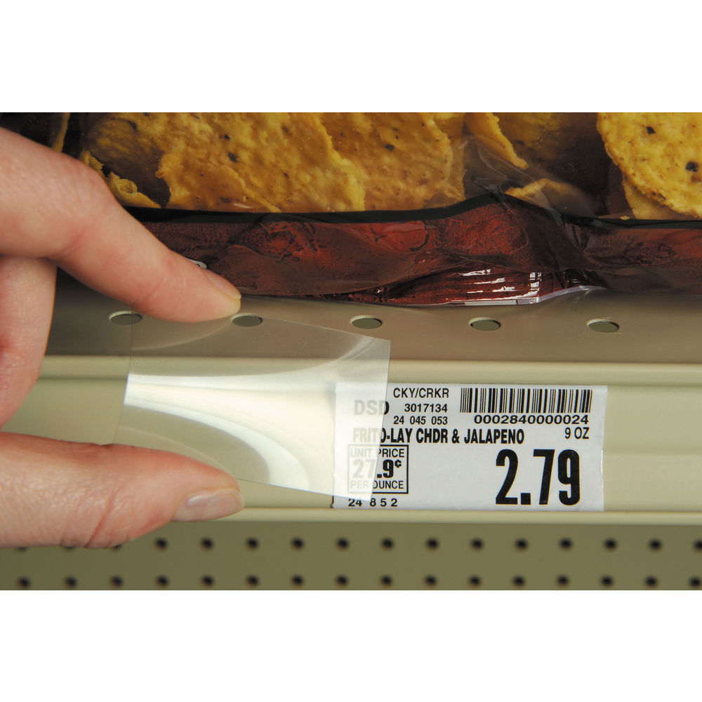 "COVER, SHELF PRICING 12"" CLEAR (1000/PK)"