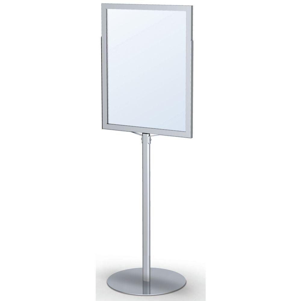 24 x 36 floor standing sign holders silver. Black Bedroom Furniture Sets. Home Design Ideas