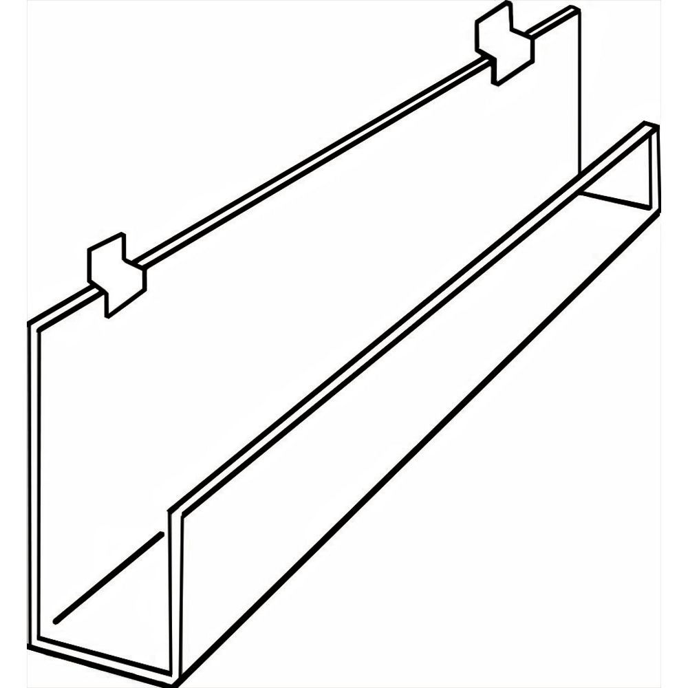 """Slatwall Rack with Front Lip, 35 3/4"""" (W)"""