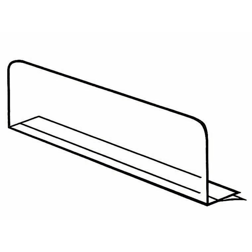 Adhesive-Backed Shelf Dividers