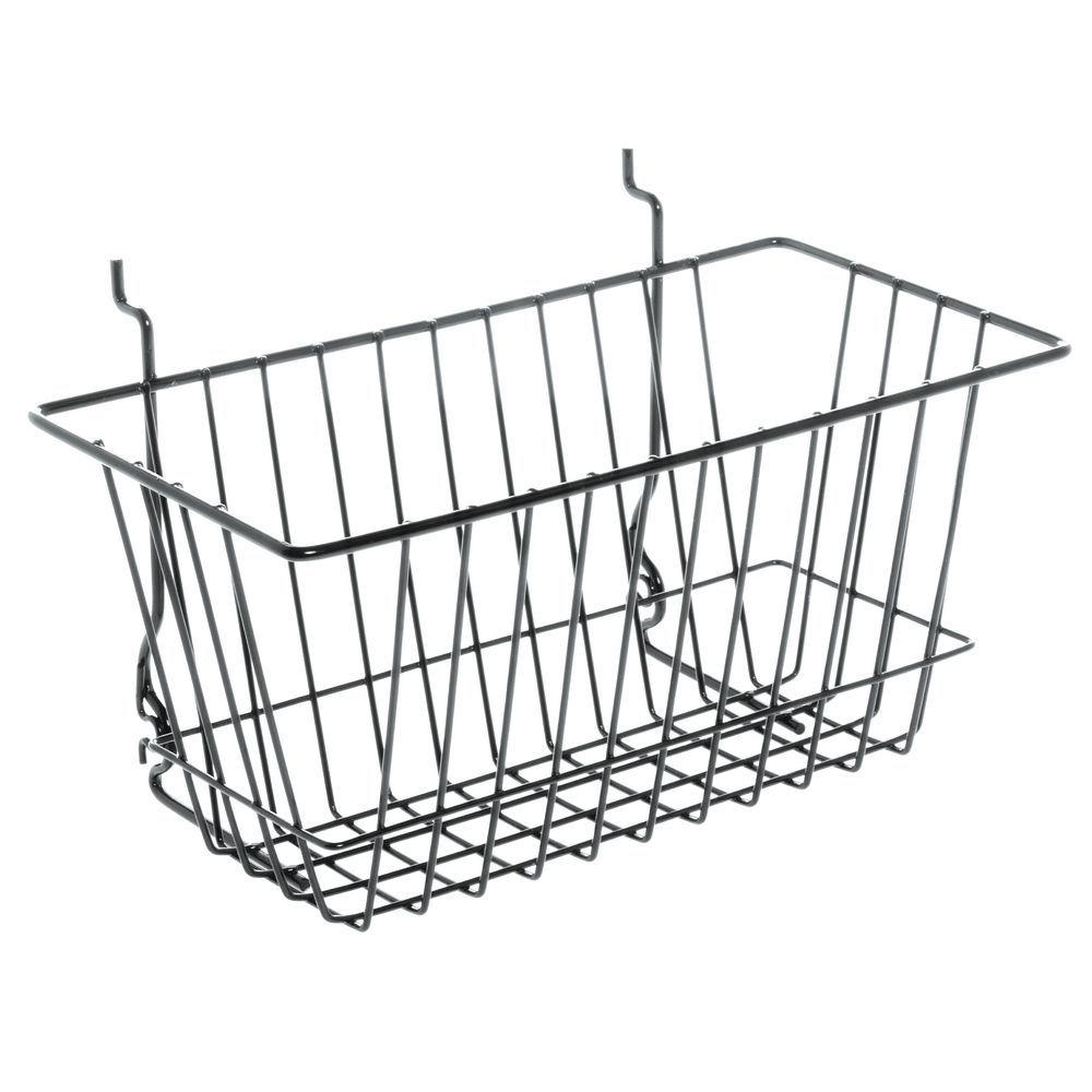 Wire Basket Storage with Black Exterior