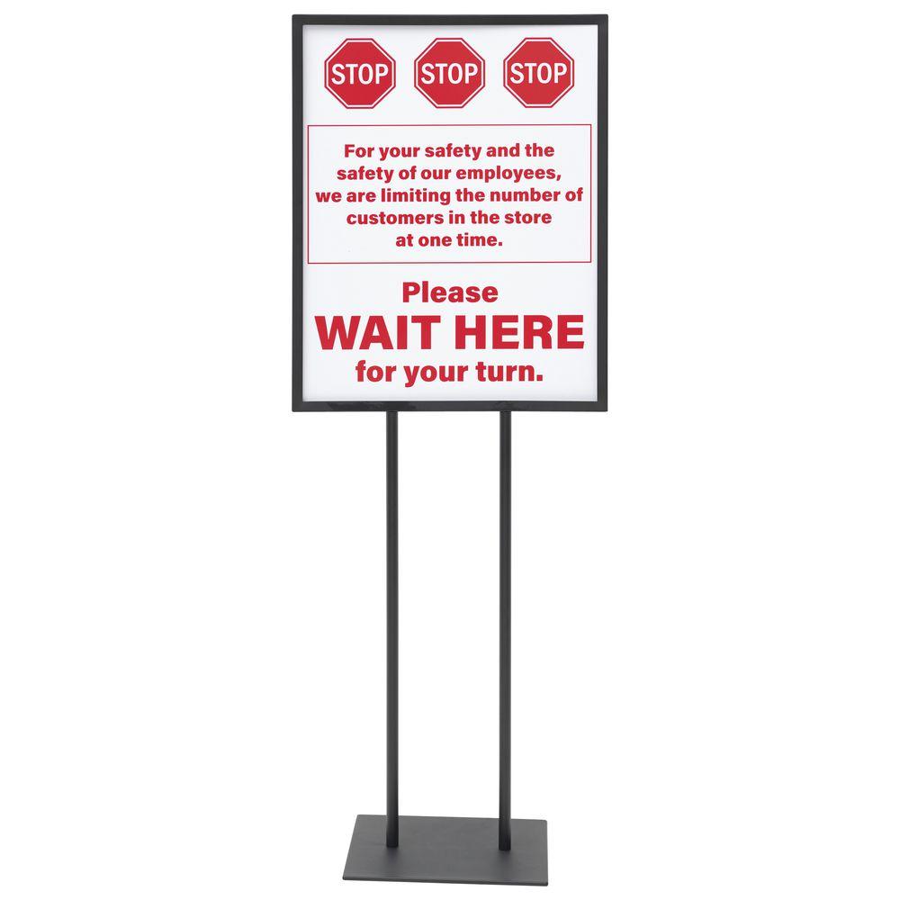 STOP HERE, 22X28, WHITE/RED, STYRENE