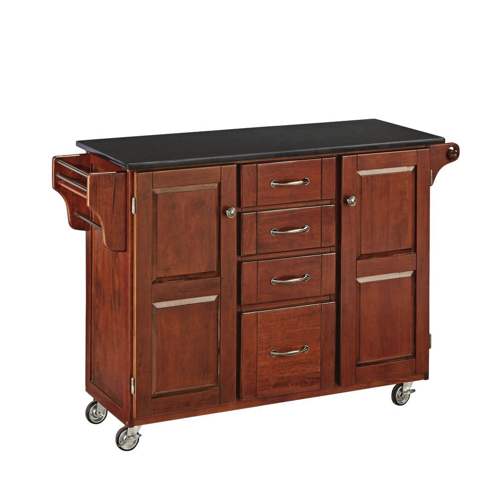 Cherry Cabinet Cooking Cart
