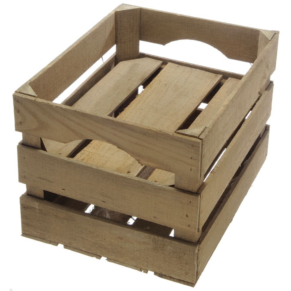 CRATE, RUSTIC, ANT.STAIN, FALSE BOTTOM