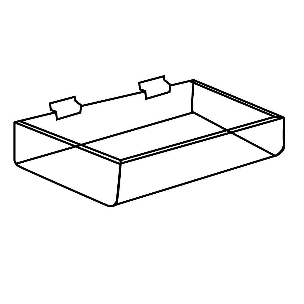 clear slatwall trays