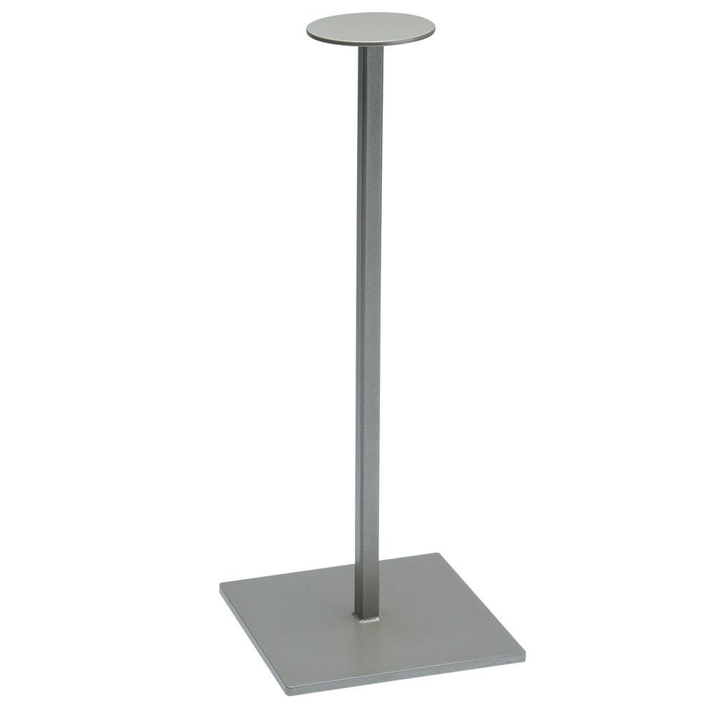 """DISPLAY STAND, HAT, TAUPE METALLIC, 16"""""""