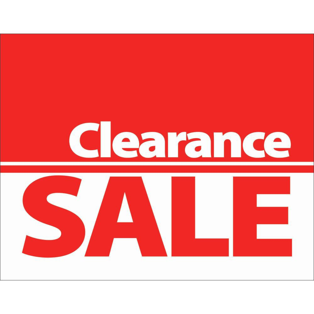 Clearance Sale Signs 7 x 5 1/2 (L x H)