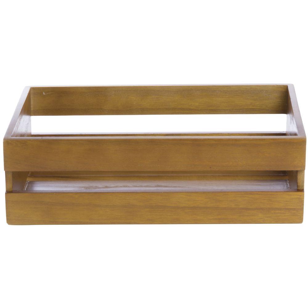 Natural Wood Low-Profile Crate 15 3/4L x 9 7/8W x 4 31/32H