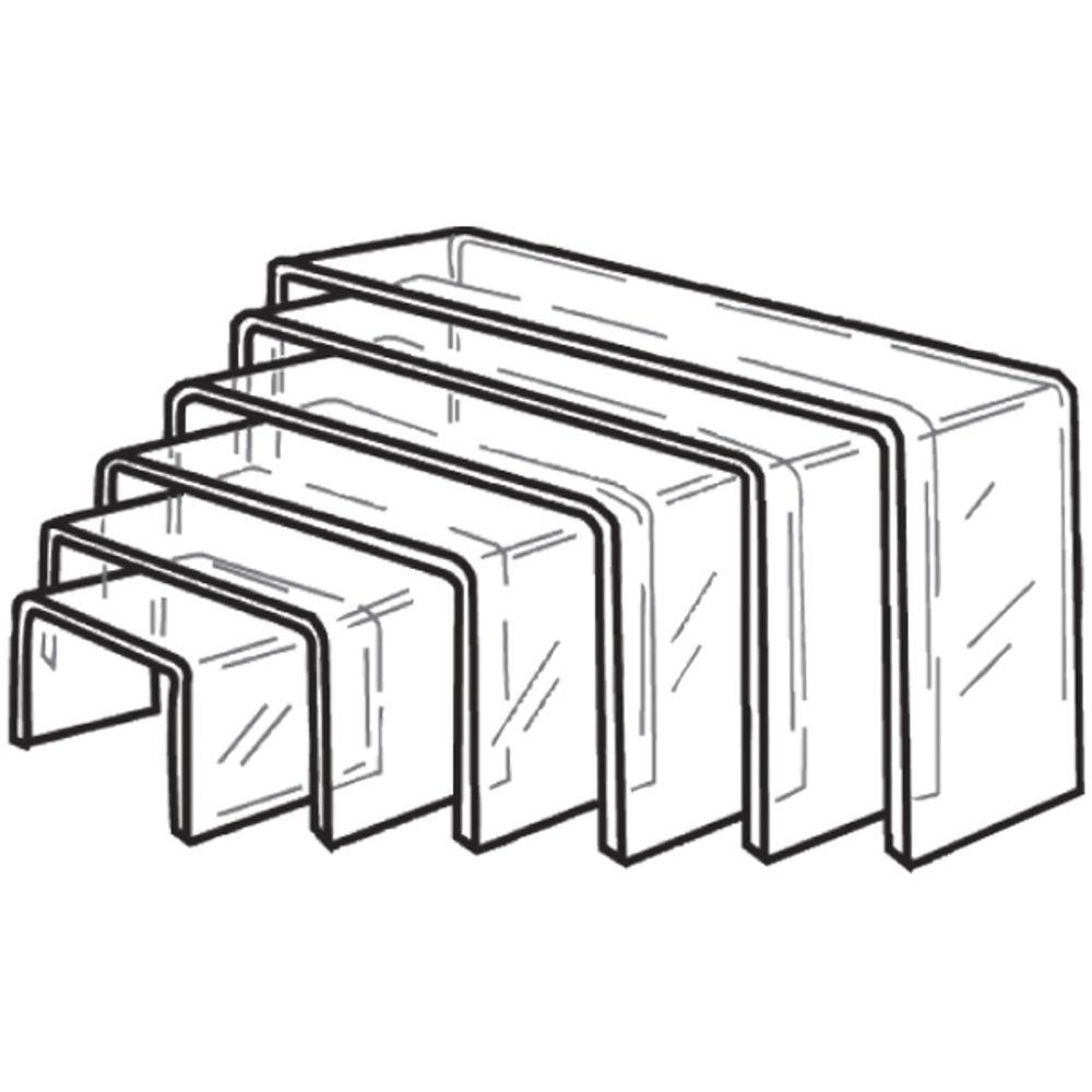 Acrylic 6 Piece Clear Risers