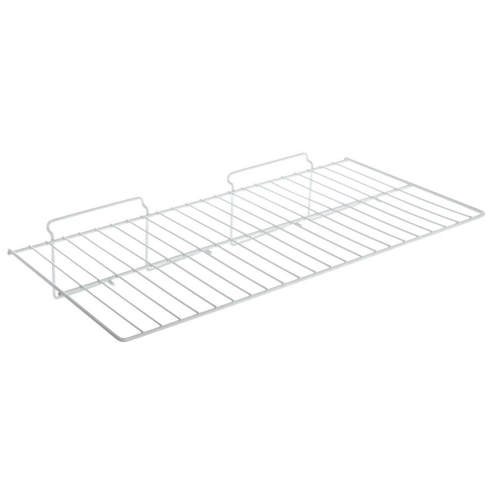 White Slatwall Wire Shelf