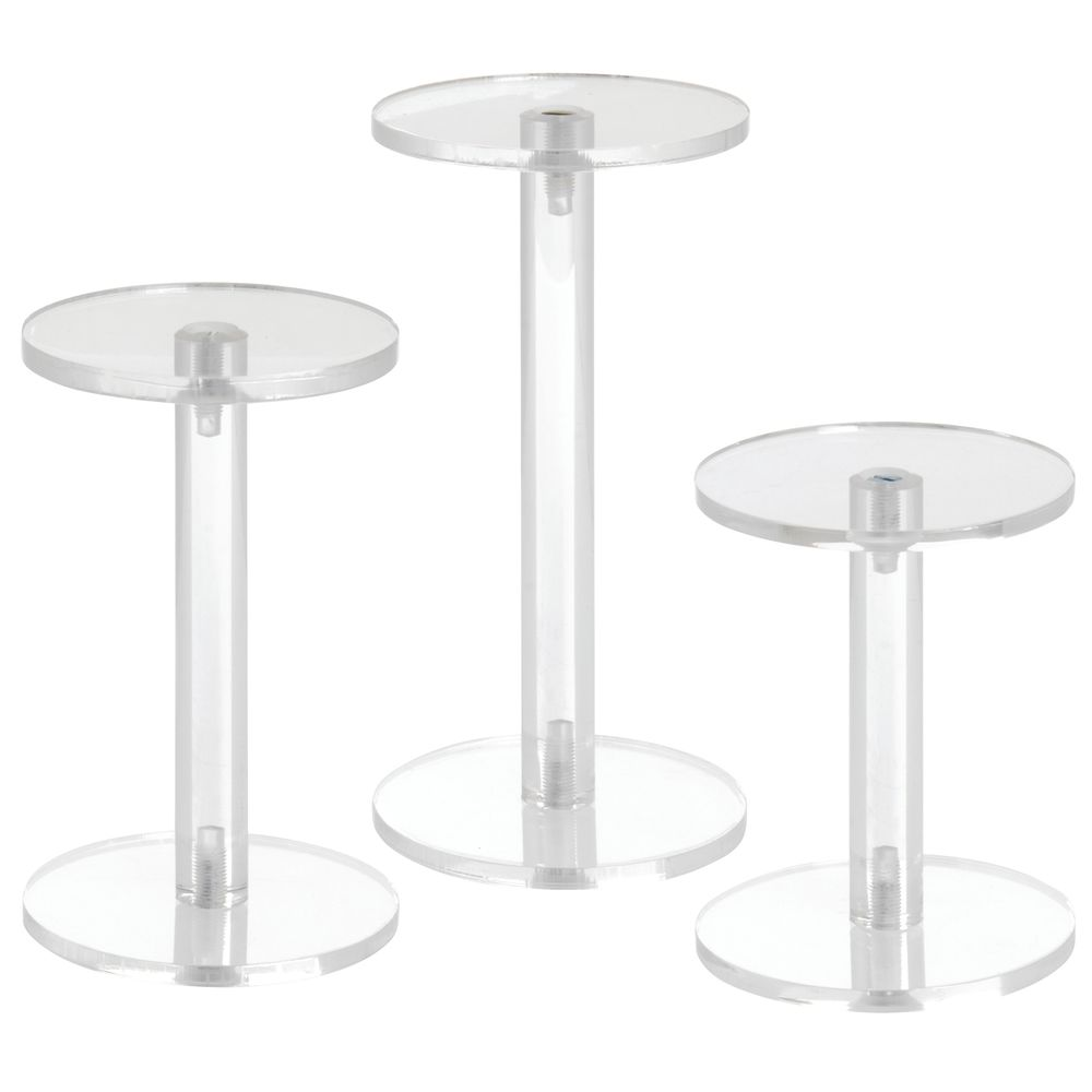 Plastic Pedestal with Set of Three Stands
