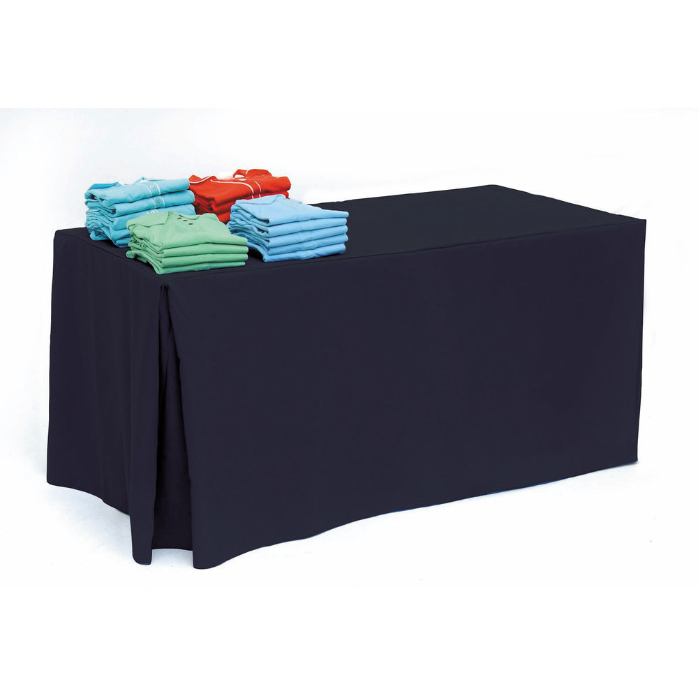 Black Fabric Tablecloth for 6ft Tables