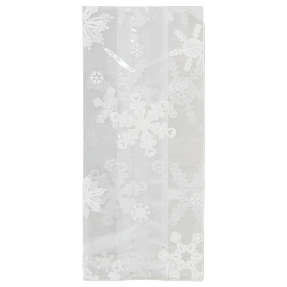 BAGS, CELLO, SNOWFLAKES, 3.5 X 2 X 7.5, HOLI