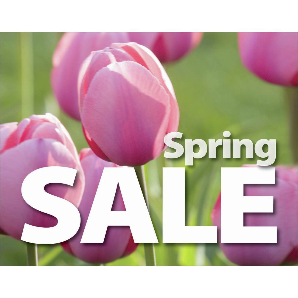 Spring Sale Signs 7 x 5 1/2 (L x H) Cards