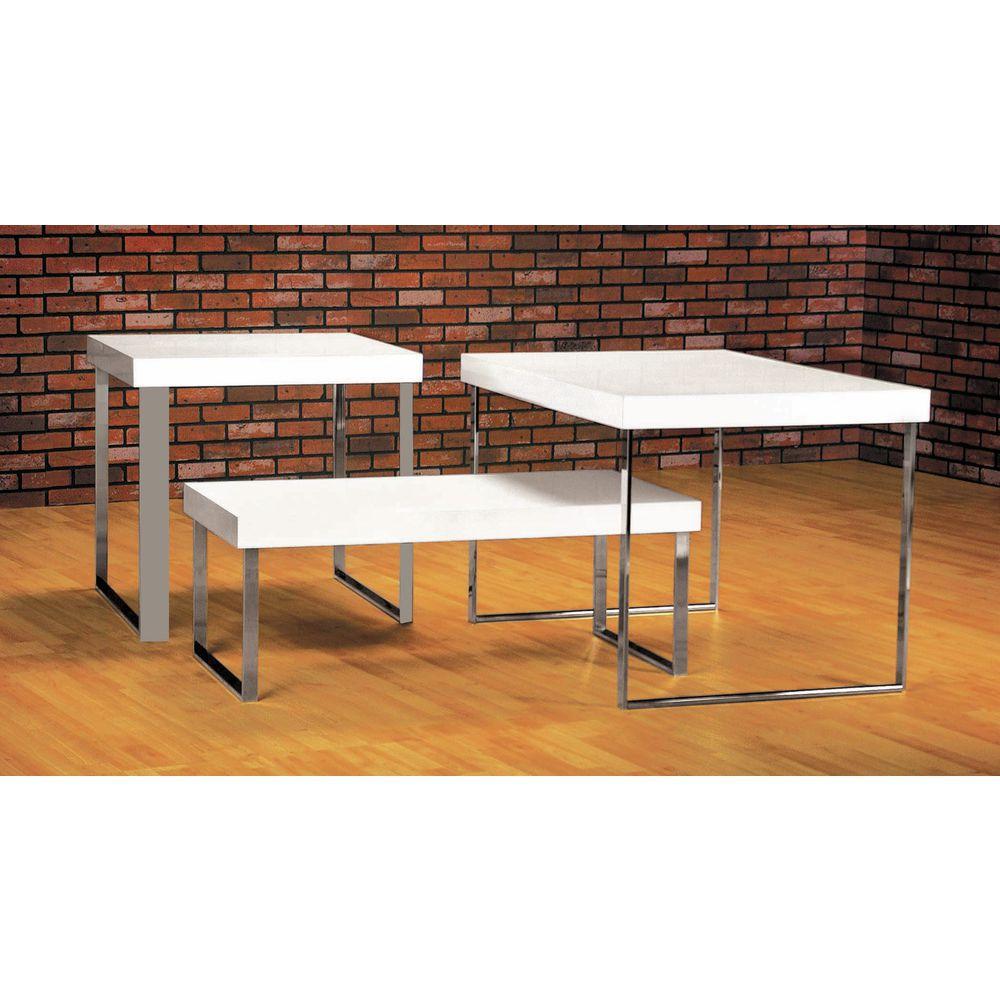 White Modern Nesting Table