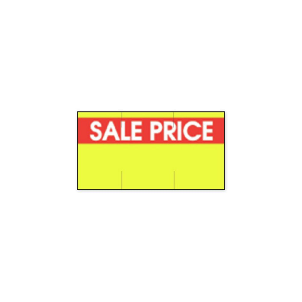 LABEL, SALE PRICE, YELLOW, RED