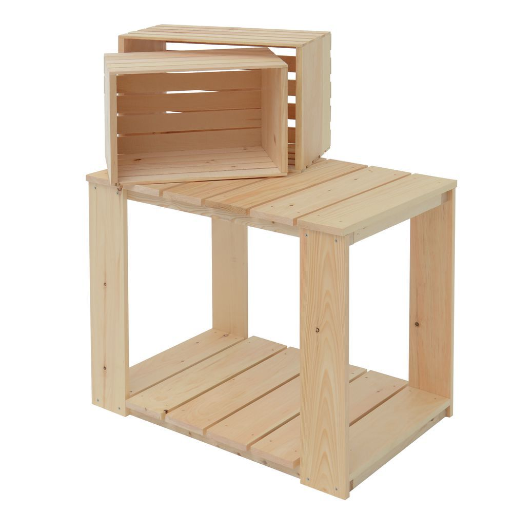 Pine Wood Crate Table