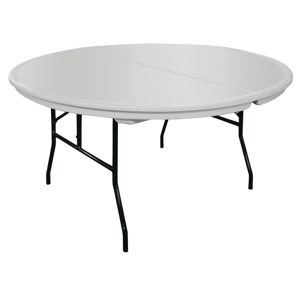 "TABLE, FOLDING, PLASTIC, GREY, 60""RNDX30""H"