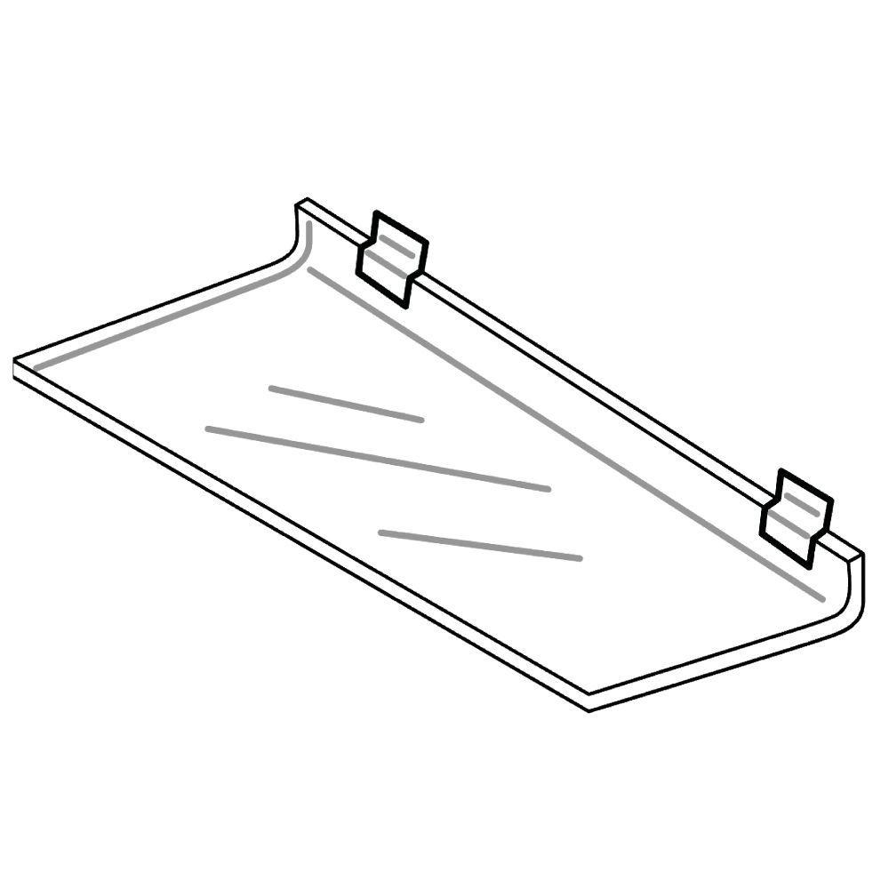 """¼"""" Acrylic Slatwall Shelves"""