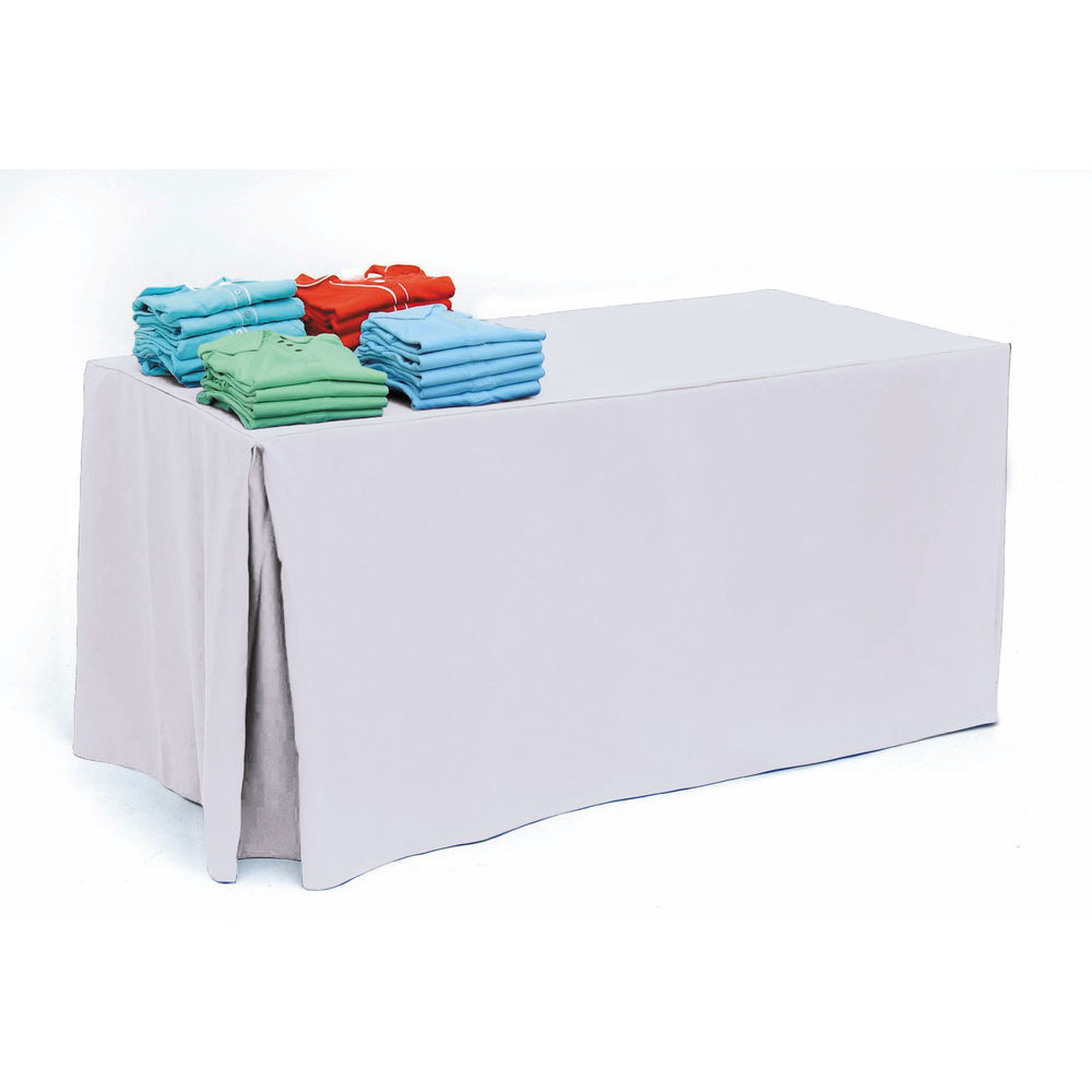 White Polyester Tablecloth for 6ft Tables