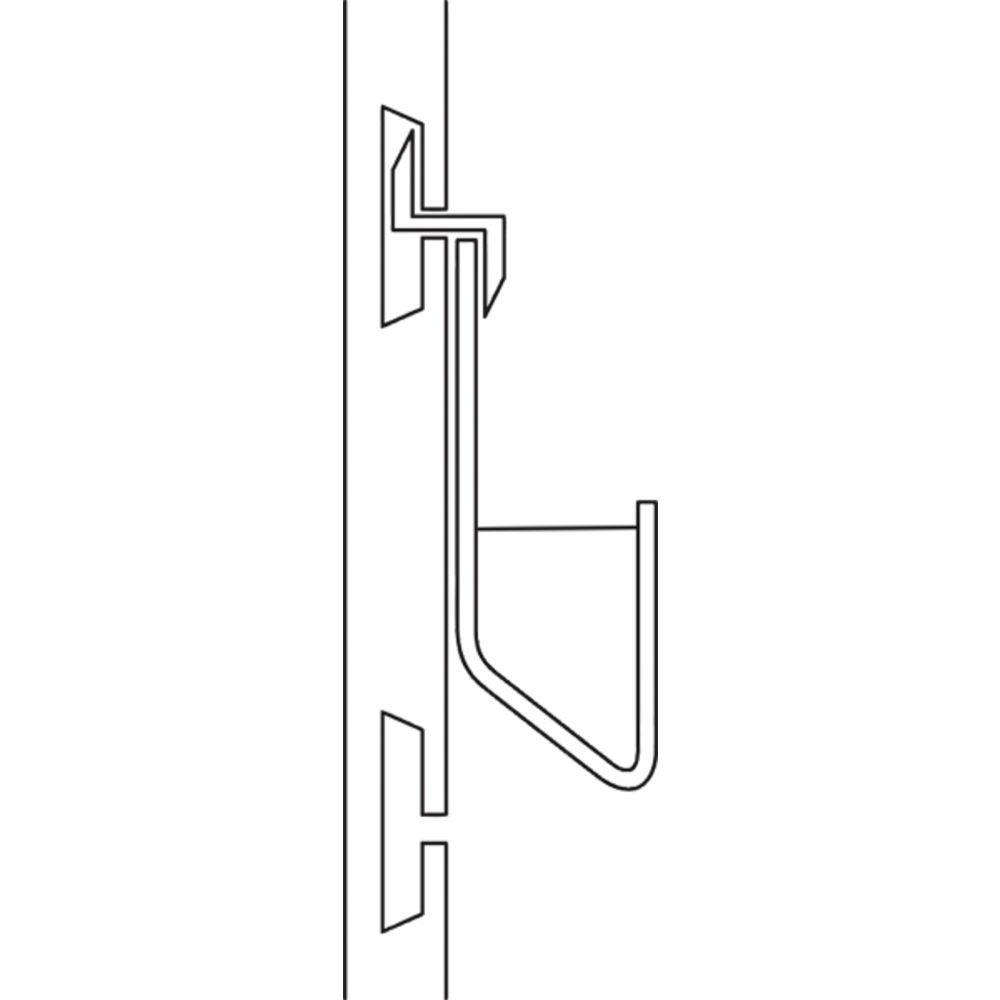 "11 3/4"" Slatwall Card Holder, Closed Ends"