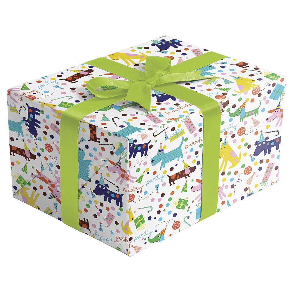 """GIFT WRAP, BARKDAY, FULL ROLL, 30""""W"""