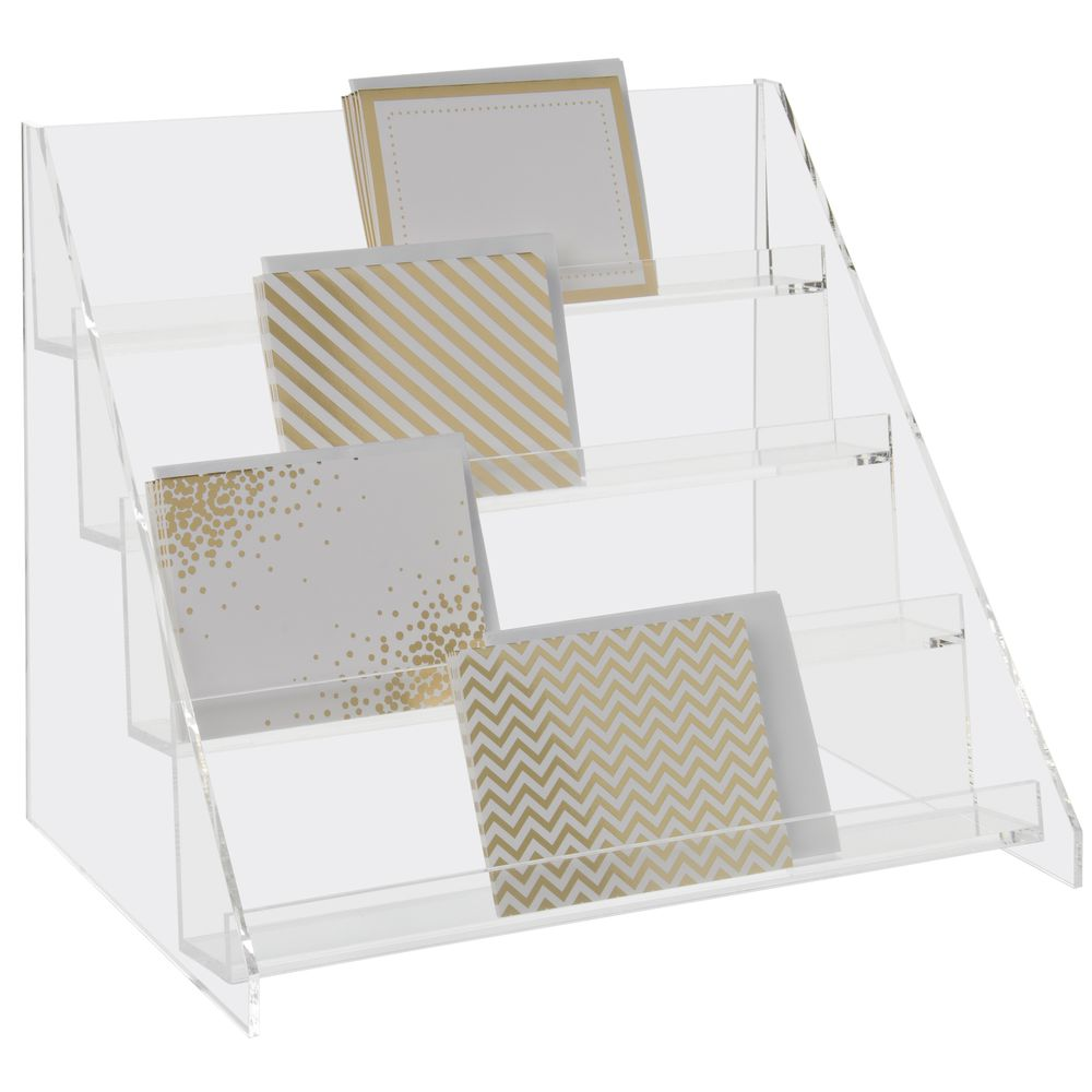 4-Tier Acrylic Step Display