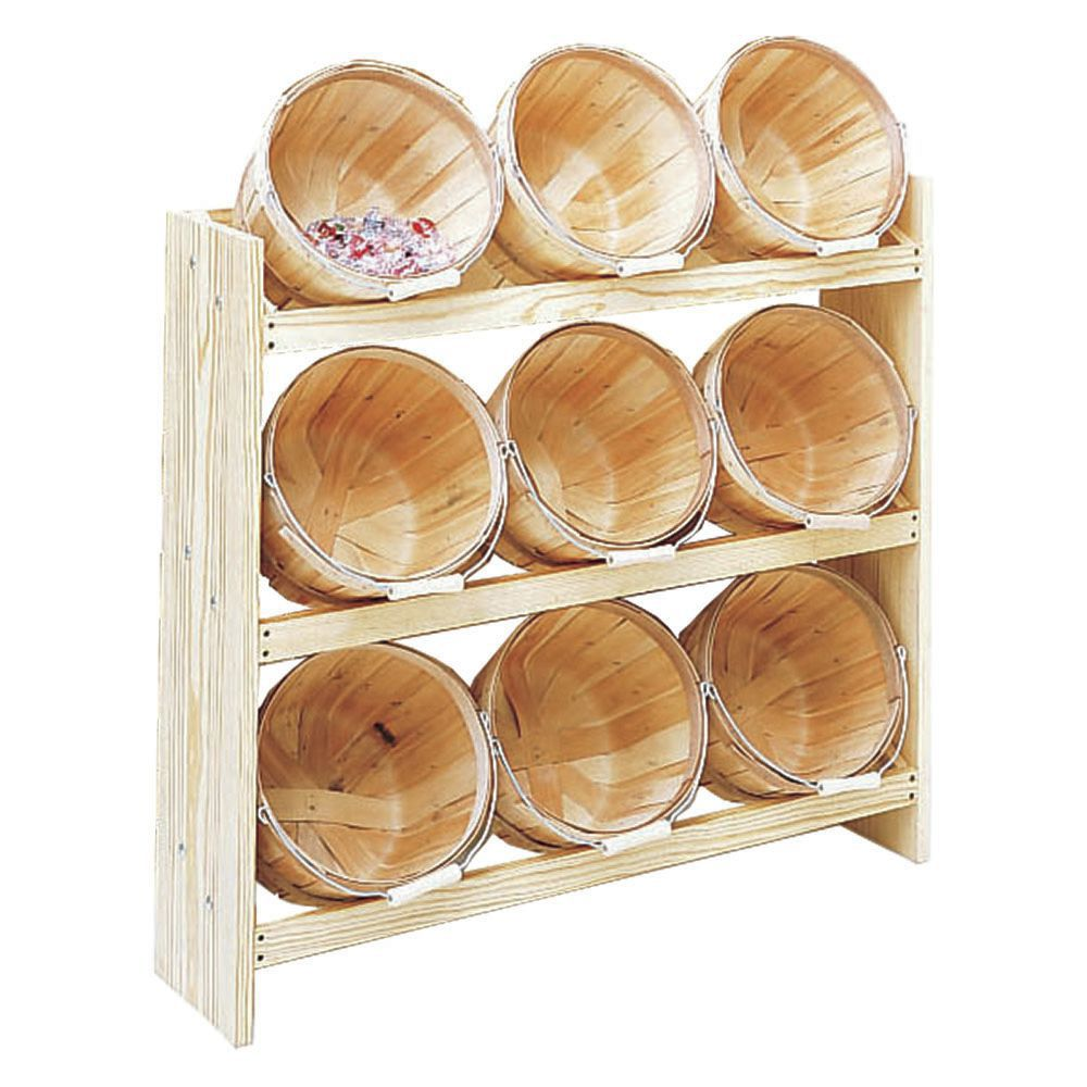 RACK WITH 9 BASKETS, 1 PECK