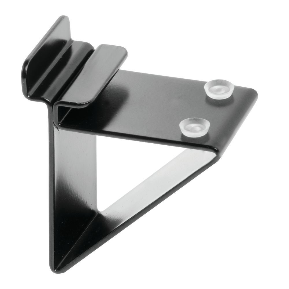 Slatwall Glass Shelf Brackets, Black