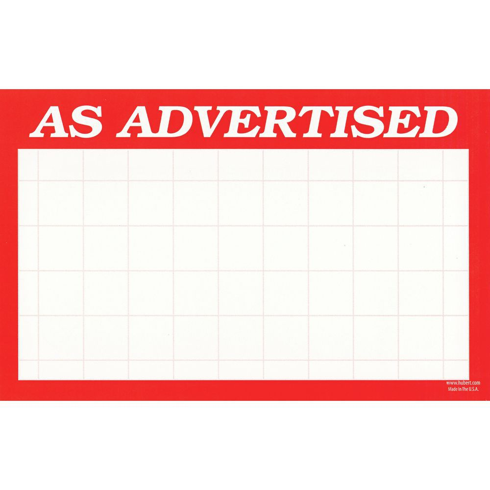 Price Cards measure 3 1/2 x 5 1/2 to Save you Display Space