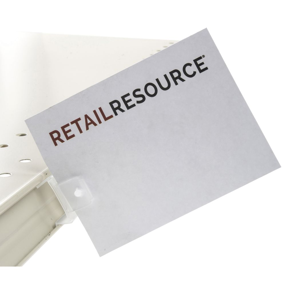 Shelf Sign Clips with C-Channel Design.||Shelf Sign Clips with C-Channel Design.