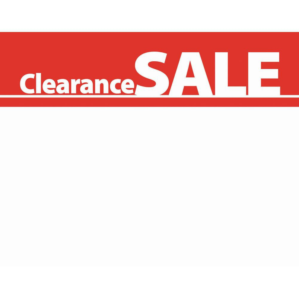 Clearance Sale Signs Write On