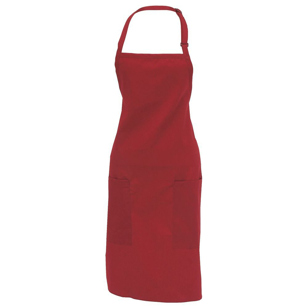 Red Apron Contains Two Pockets