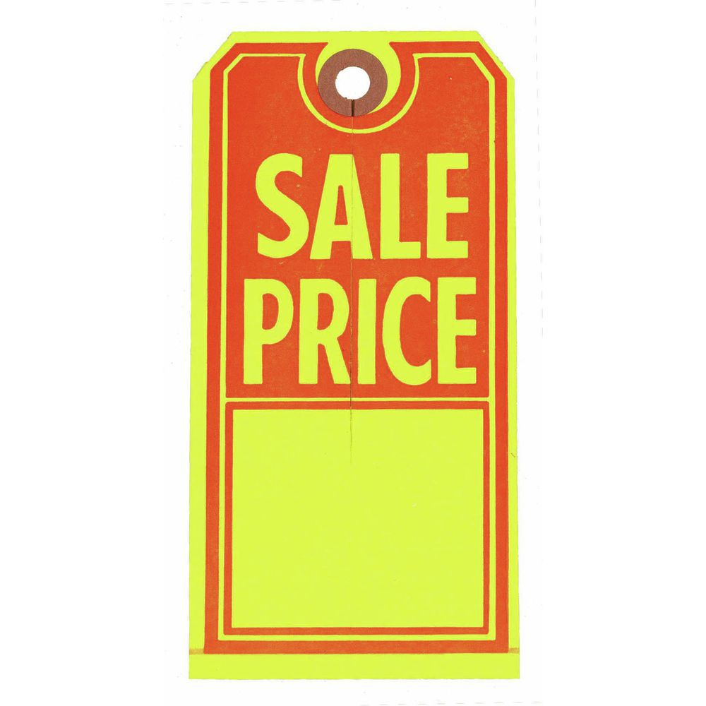 Large Sale Price Merchandise Tags