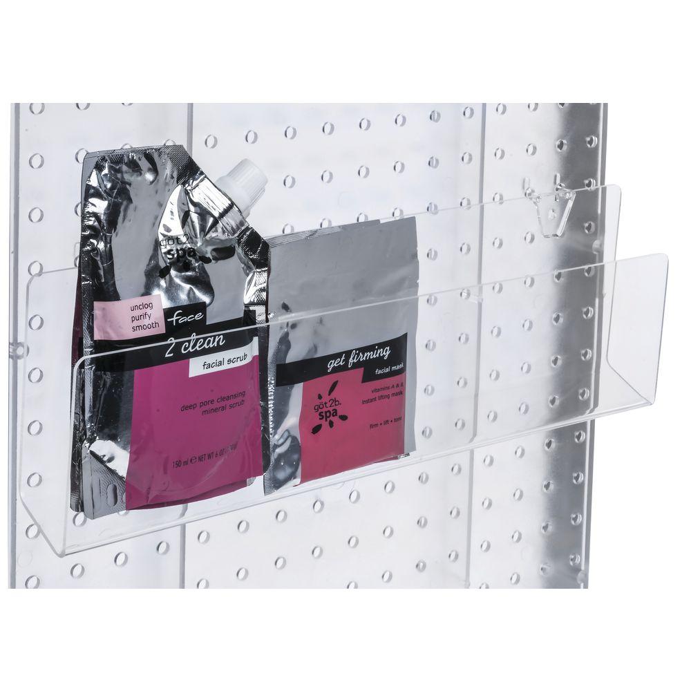 CARD SHELF, PEGBOARD, ACRYLIC, 16WX1.5D