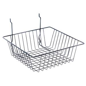 pegboard wire baskets contain a square design. Black Bedroom Furniture Sets. Home Design Ideas