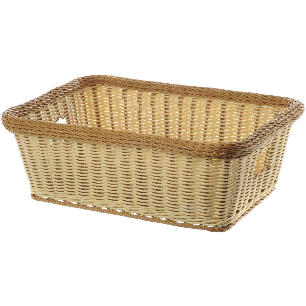 Deep Wicker Basket with Handles