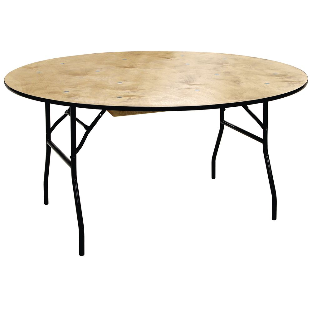 "TABLE, PLYWOOD, FOLDING, 60""DIA X 30""H"