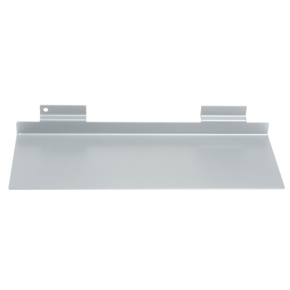 SHELF, SHOE, SLATWALL, METAL, SILVER, 11X4