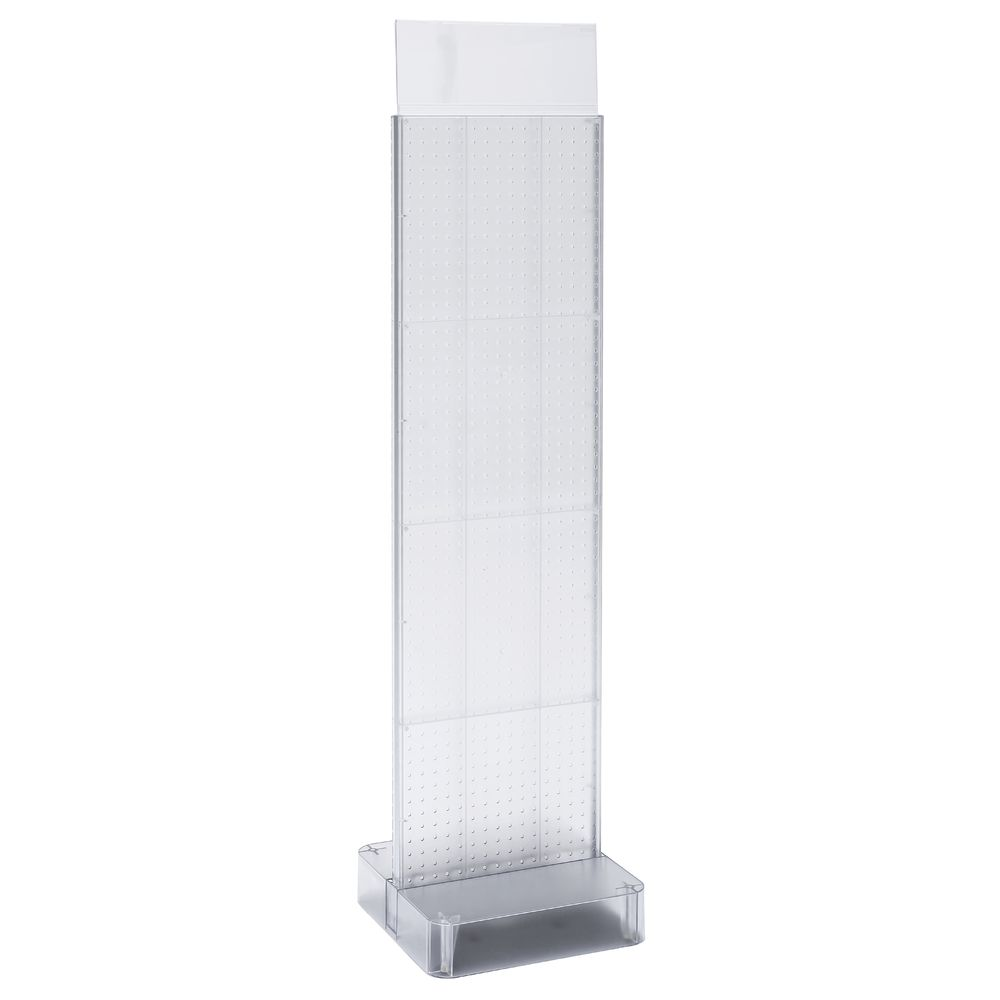 """PEGBOARD DISPLAY, 2SIDED, CLEAR, 56""""H"""